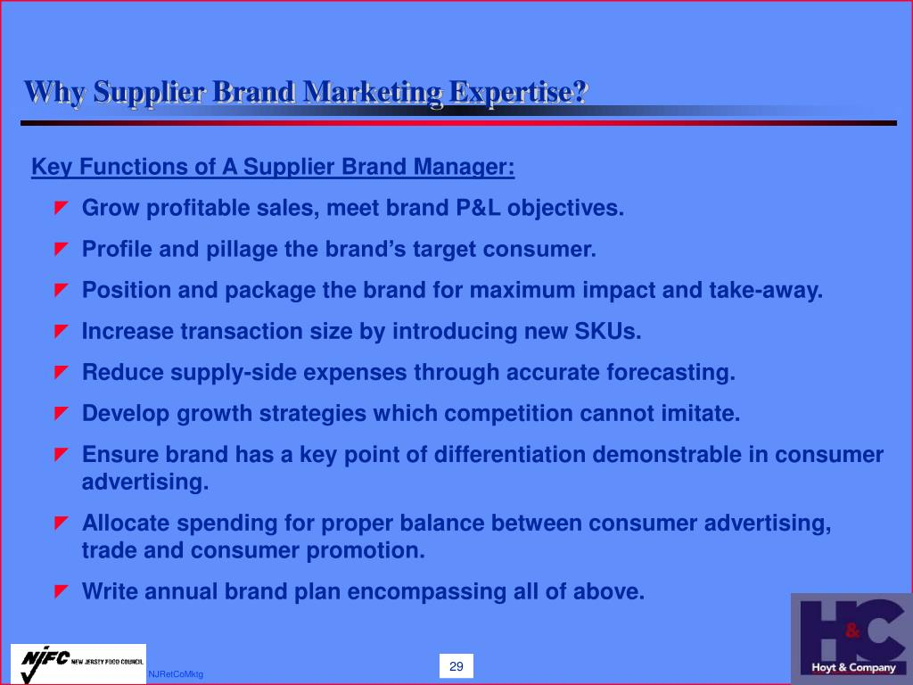 Why Supplier Brand Marketing Expertise?