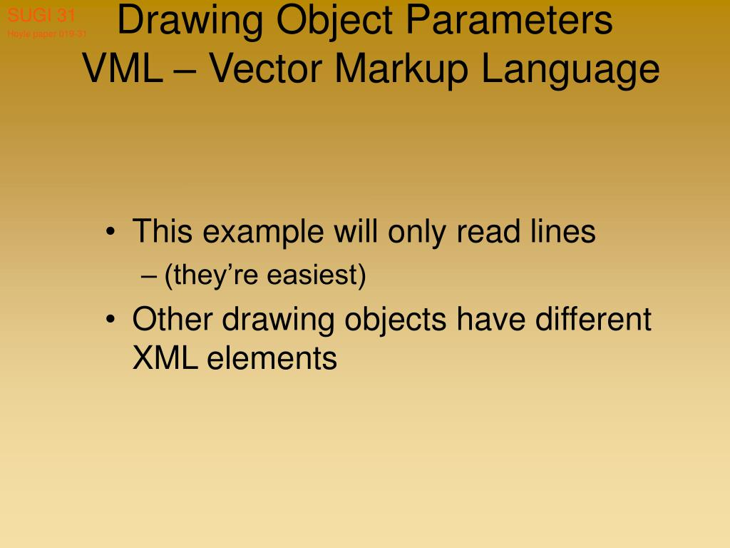 Drawing Object Parameters