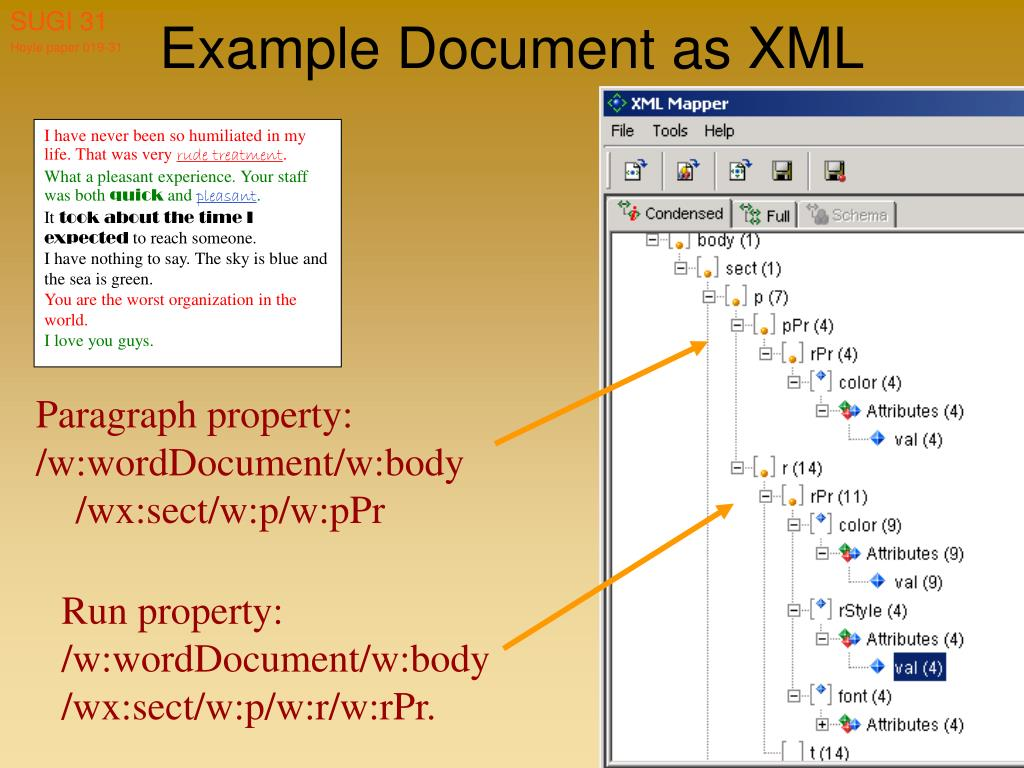 Example Document as XML