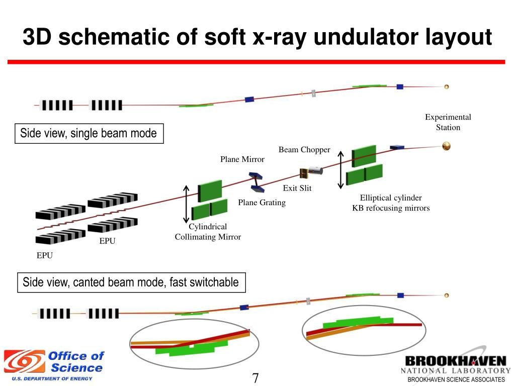 3D schematic of soft x-ray undulator layout