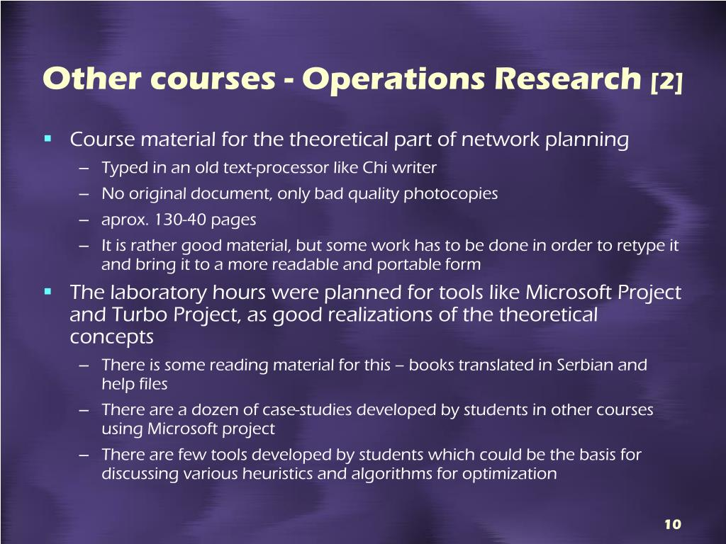 Other courses -