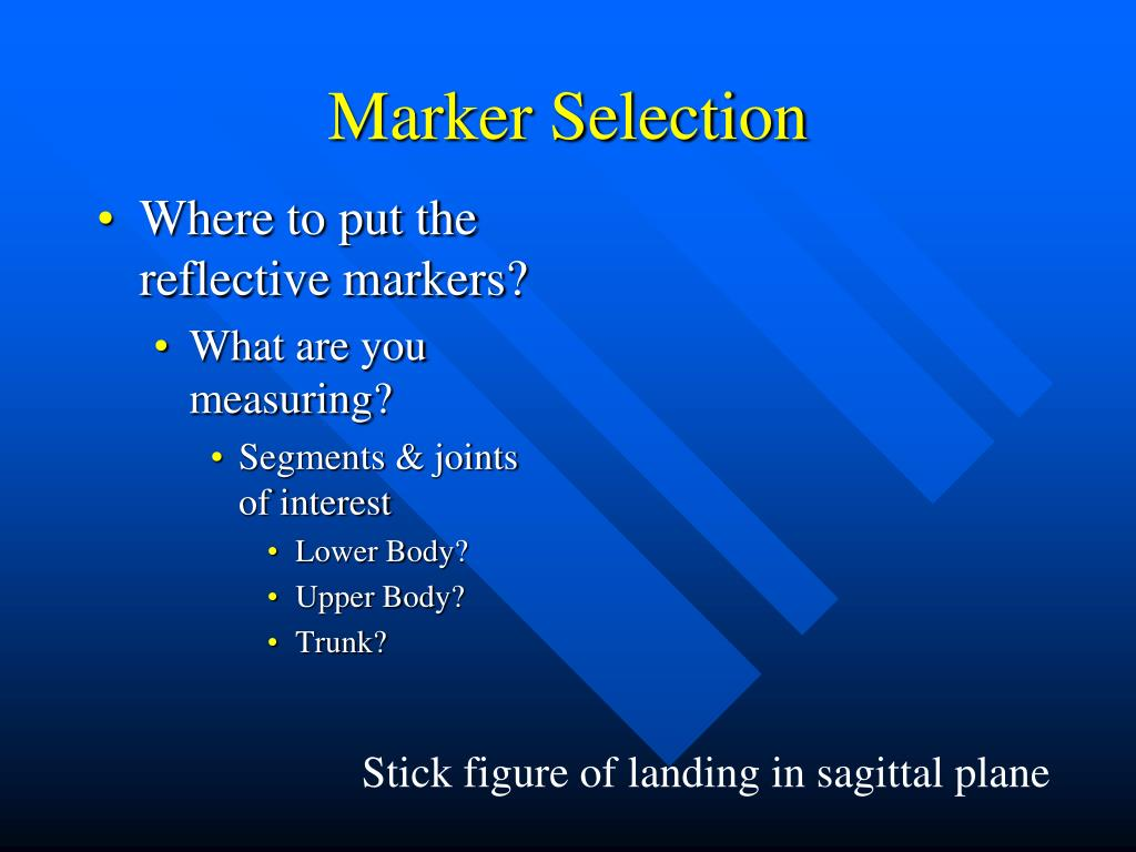Marker Selection