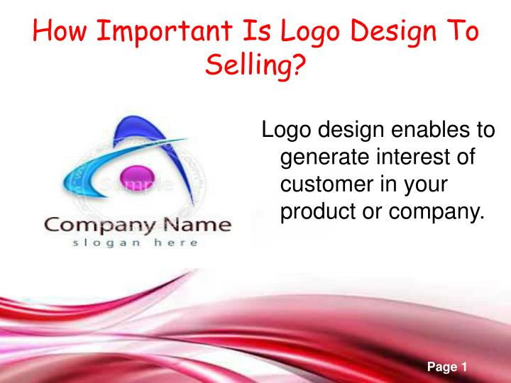 how important is logo design to selling n.