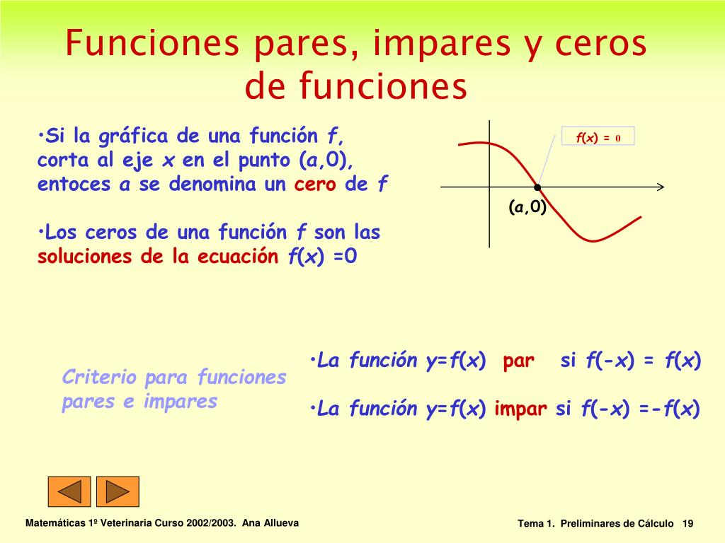 La función y
