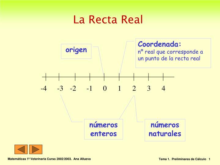 La recta real