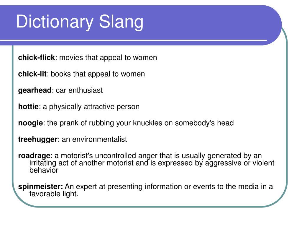 Dictionary Slang