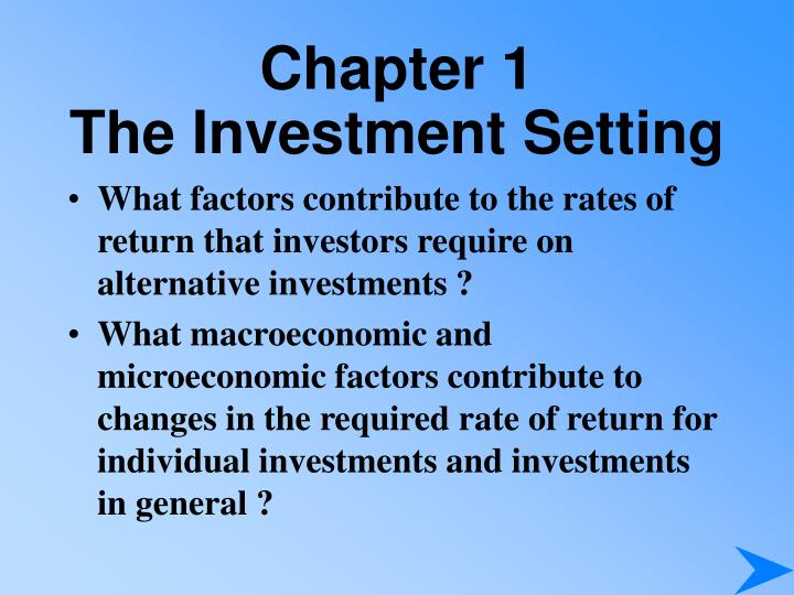 Chapter 1 the investment setting3