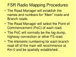 fsr radio mapping procedures