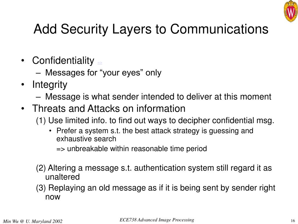 Add Security Layers to Communications