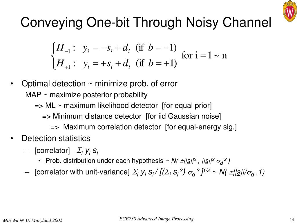 Conveying One-bit Through Noisy Channel
