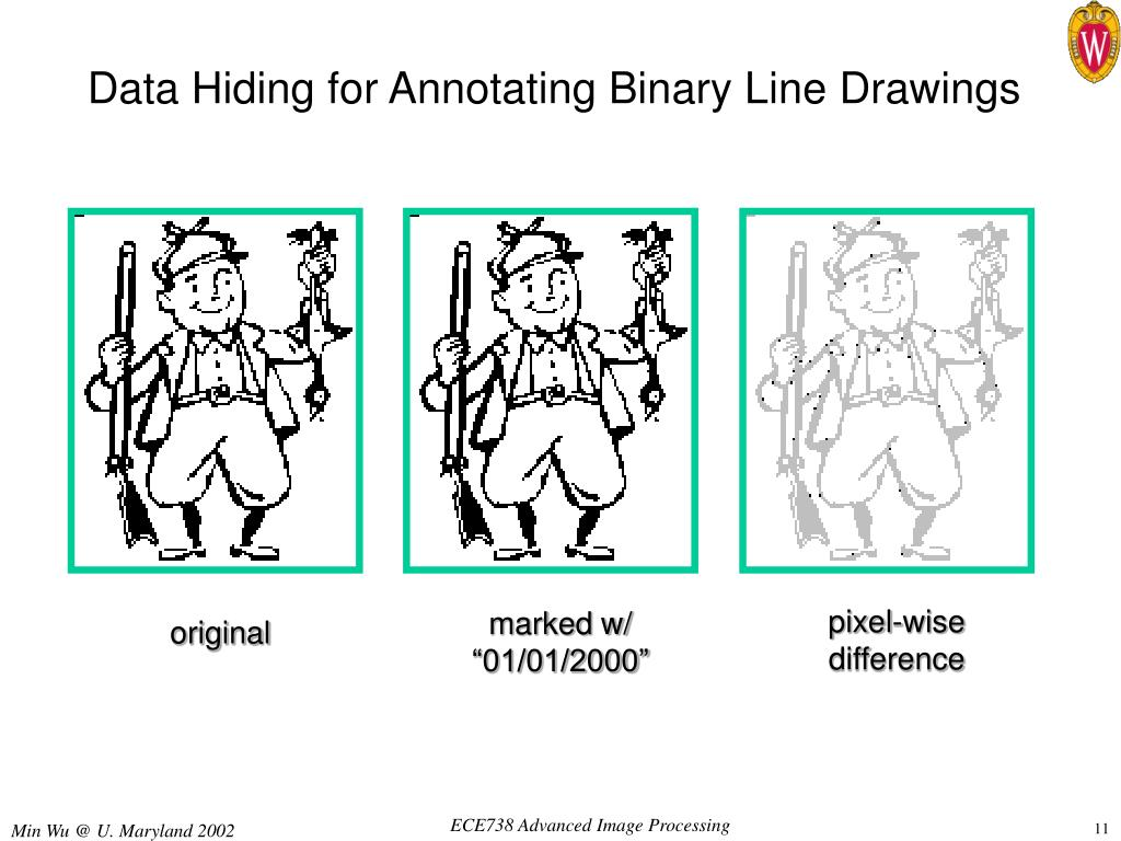 Data Hiding for Annotating Binary Line Drawings