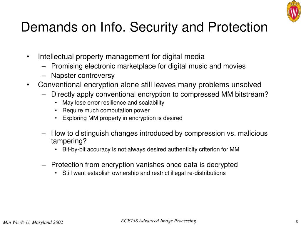 Demands on Info. Security and Protection