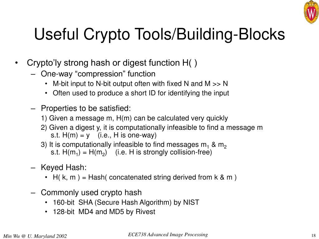 Useful Crypto Tools/Building-Blocks