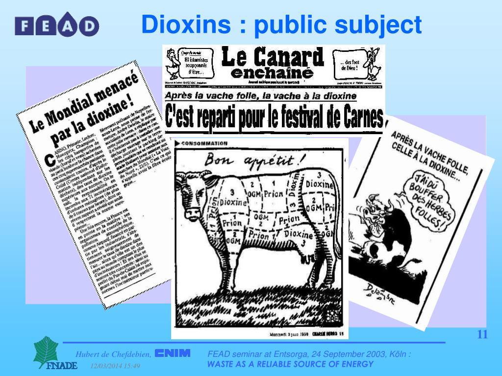 Dioxins : public subject