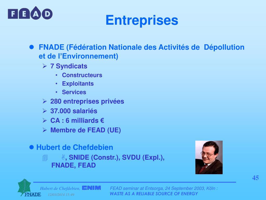 FNADE (Fédération Nationale des Activités de  Dépollution et de l'Environnement)