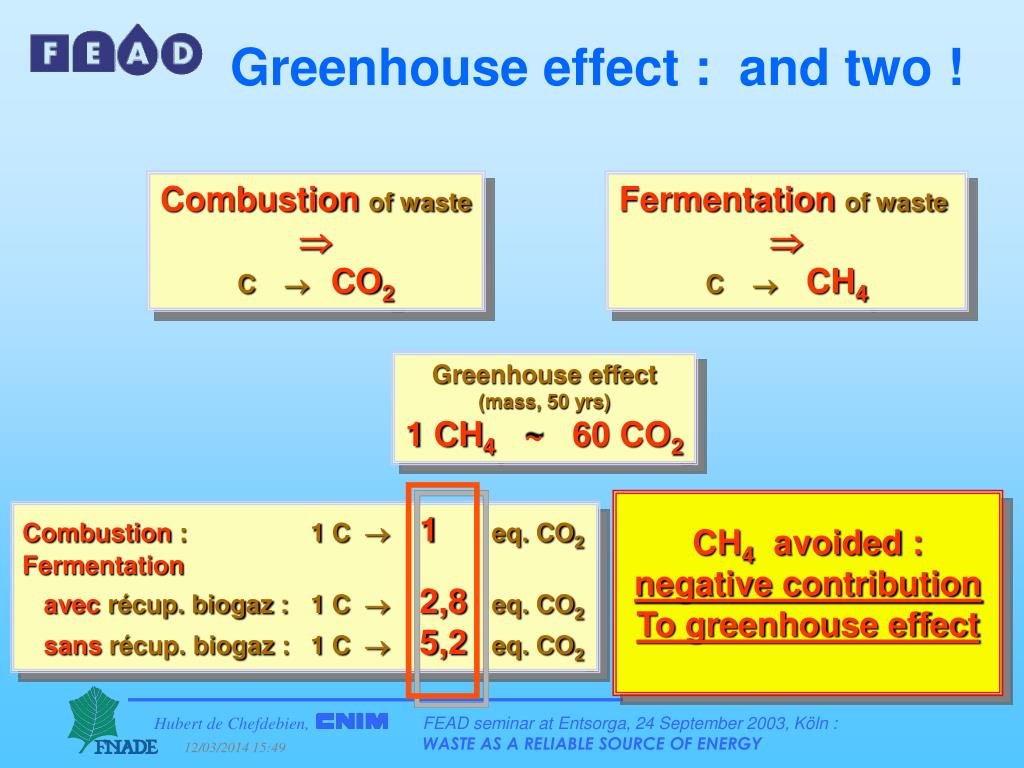 Greenhouse effect :  and two !