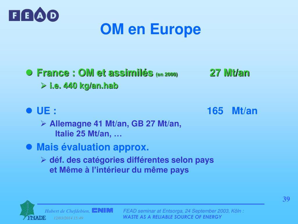 OM en Europe