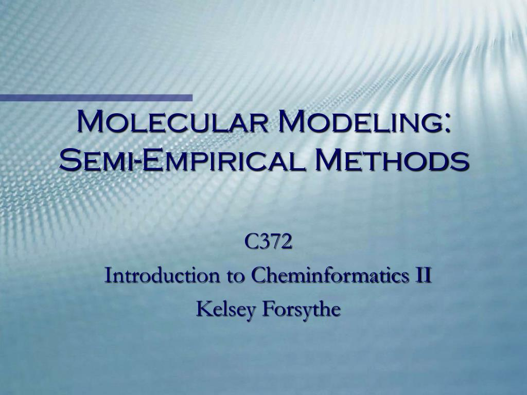 molecular modeling semi empirical methods