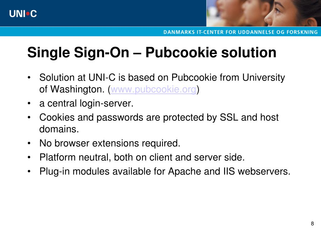 Single Sign-On – Pubcookie solution