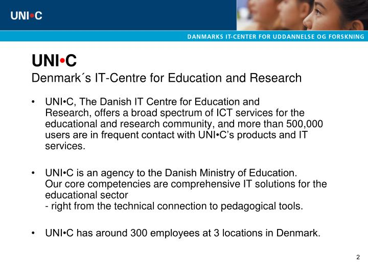 Uni c denmark s it centre for education and research