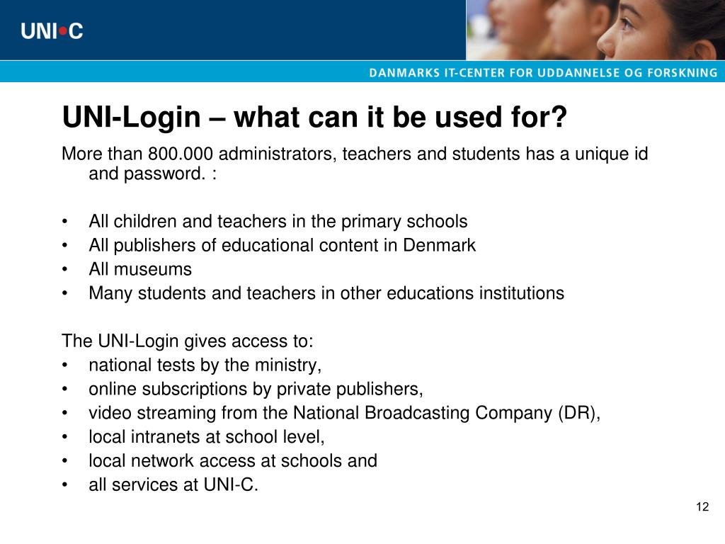 UNI-Login – what can it be used for?