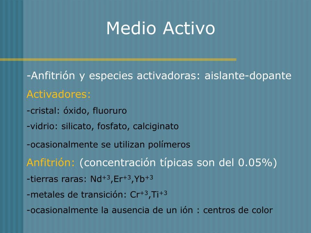 Medio Activo