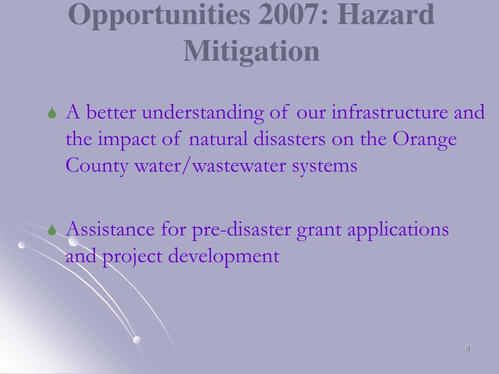 Opportunities 2007: Hazard Mitigation