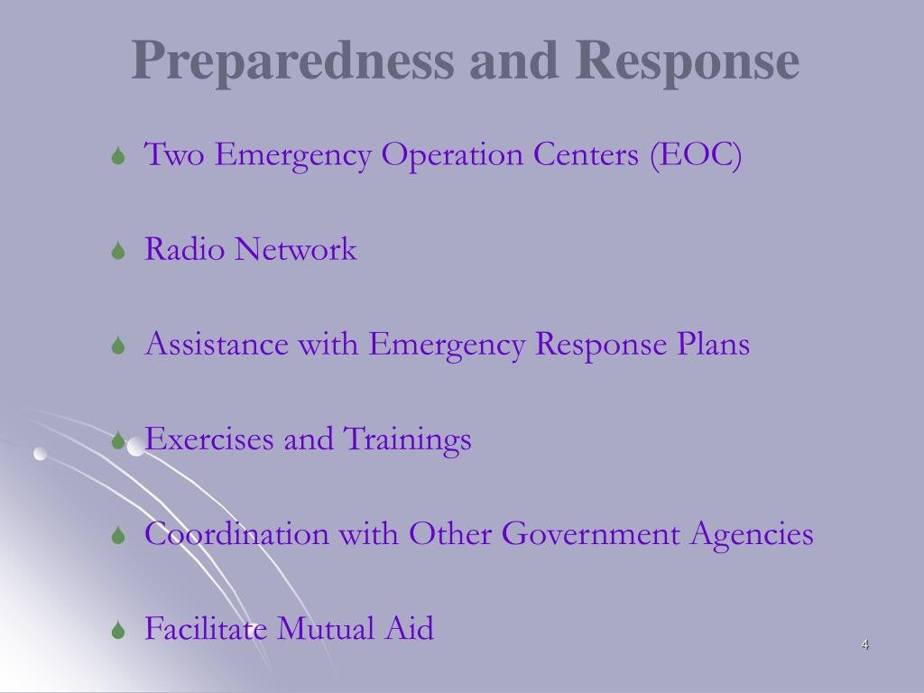 Two Emergency Operation Centers (EOC)