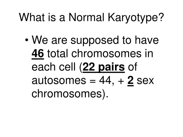 What is a normal karyotype
