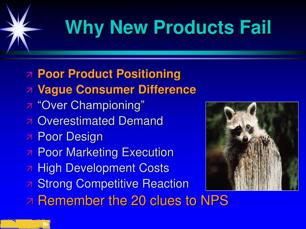 Why New Products Fail