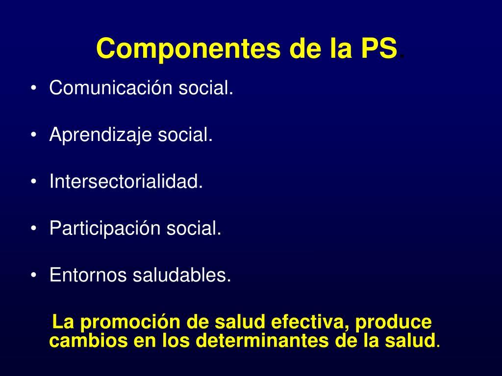 Componentes de la PS