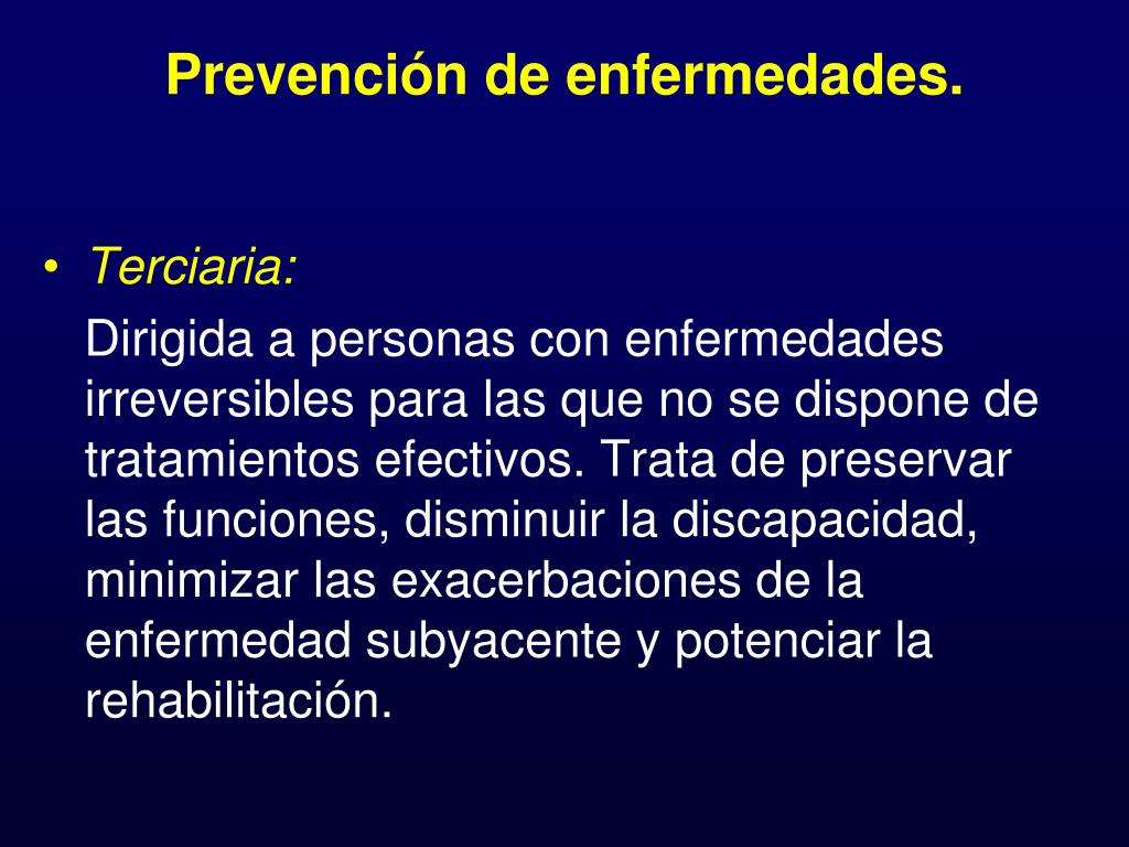 Prevención de enfermedades.