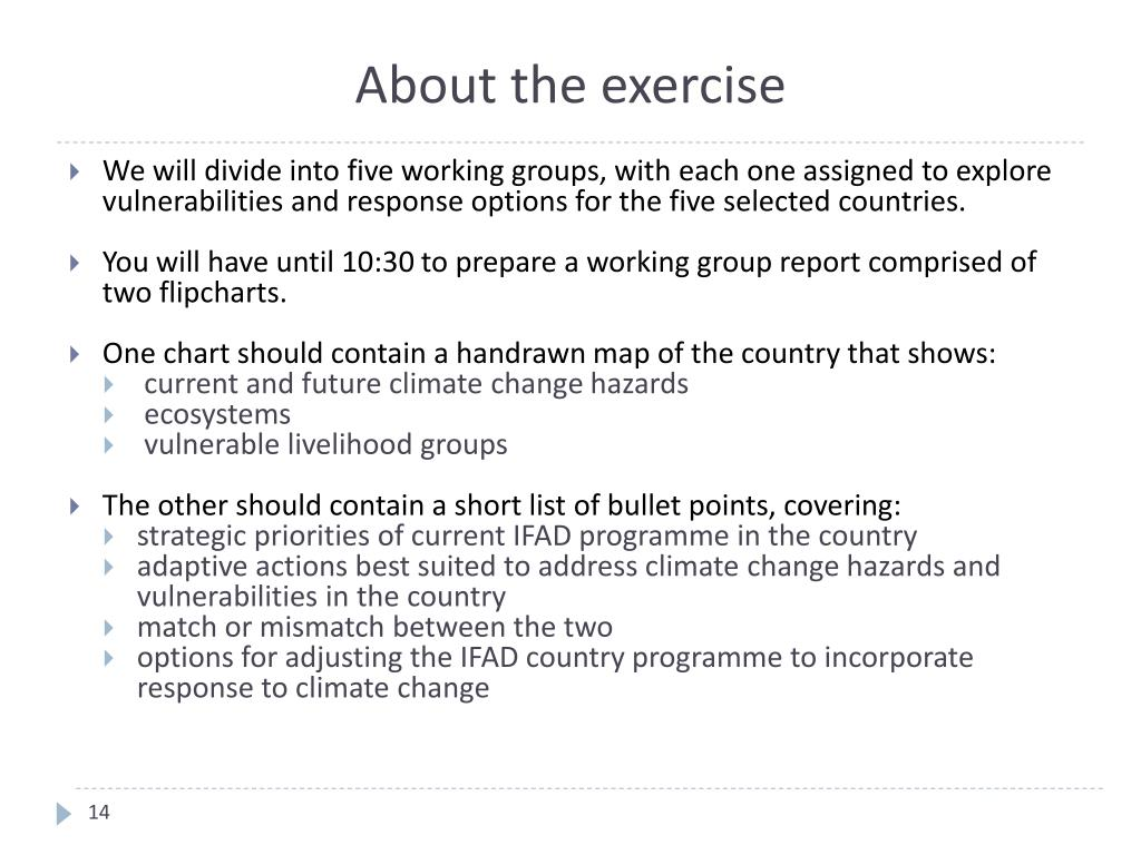 About the exercise