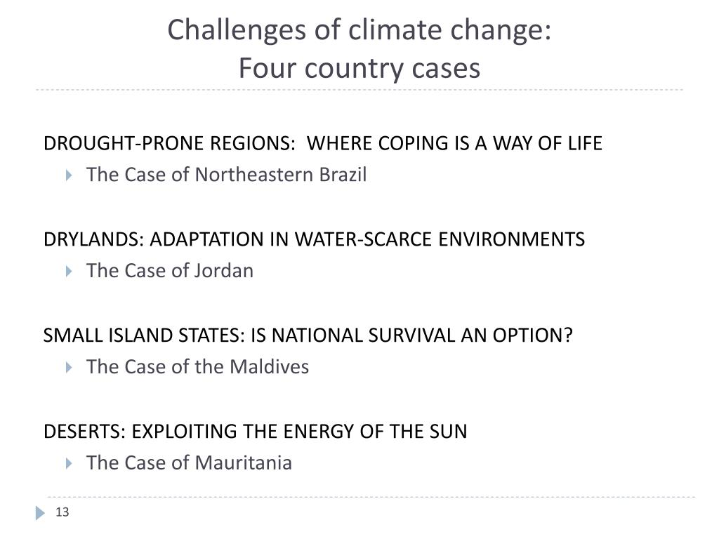 Challenges of climate change:
