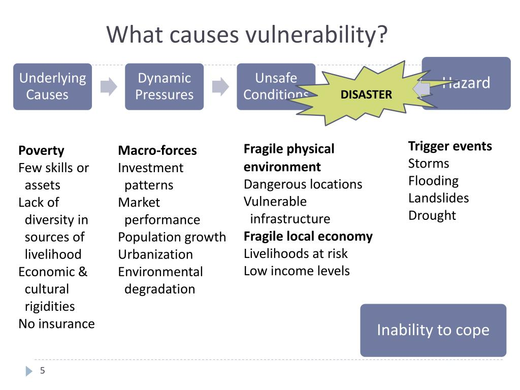 What causes vulnerability?