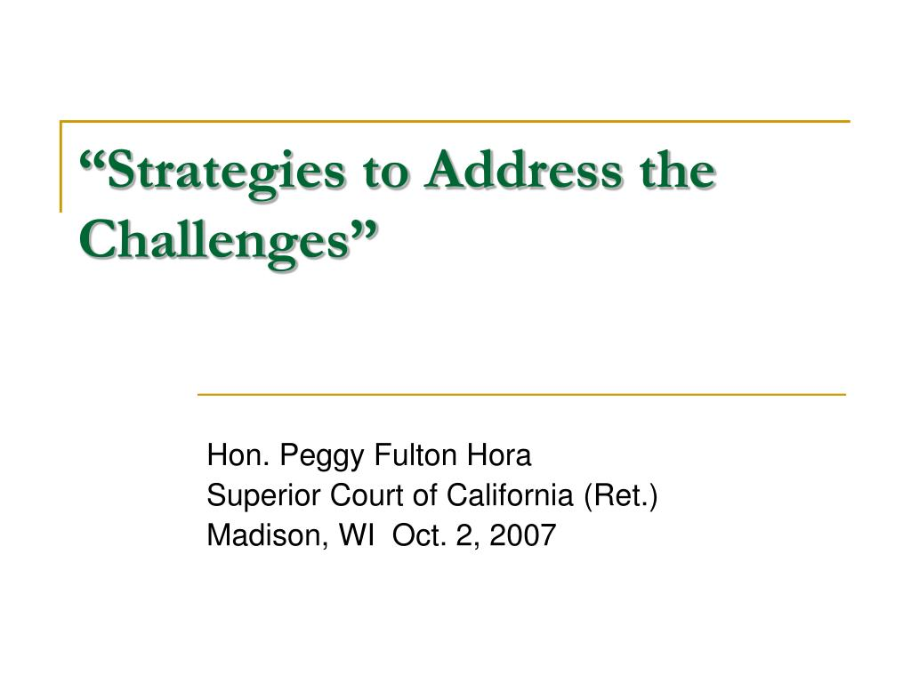 """Strategies to Address the Challenges"""