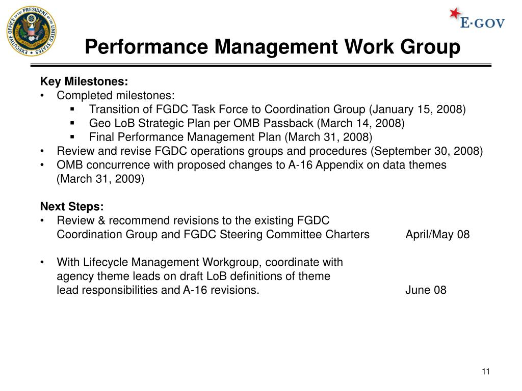 Performance Management Work Group