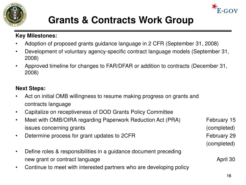 Grants & Contracts Work Group