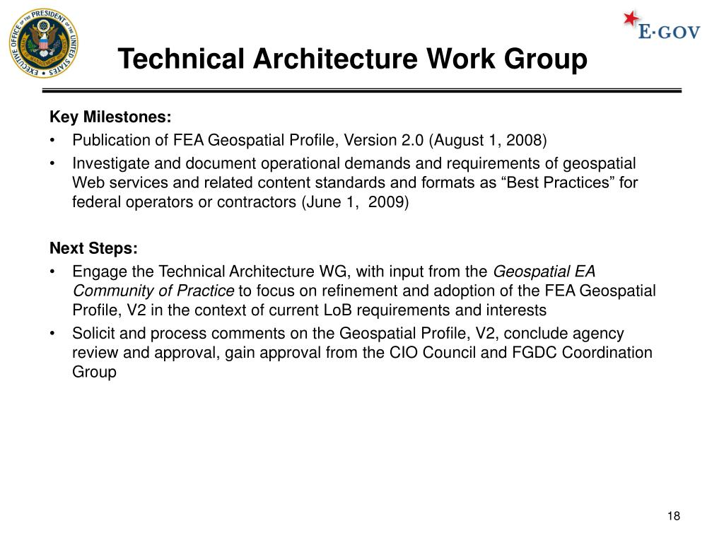 Technical Architecture Work Group