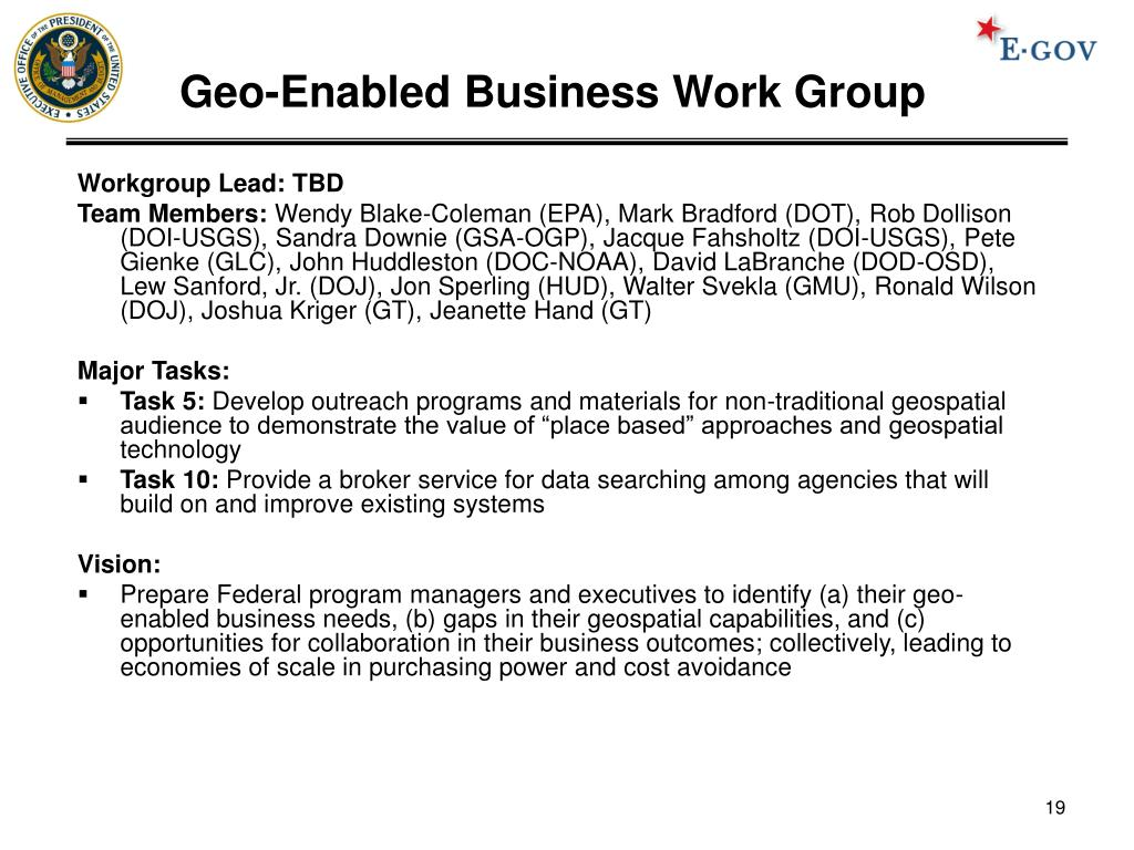 Geo-Enabled Business Work Group