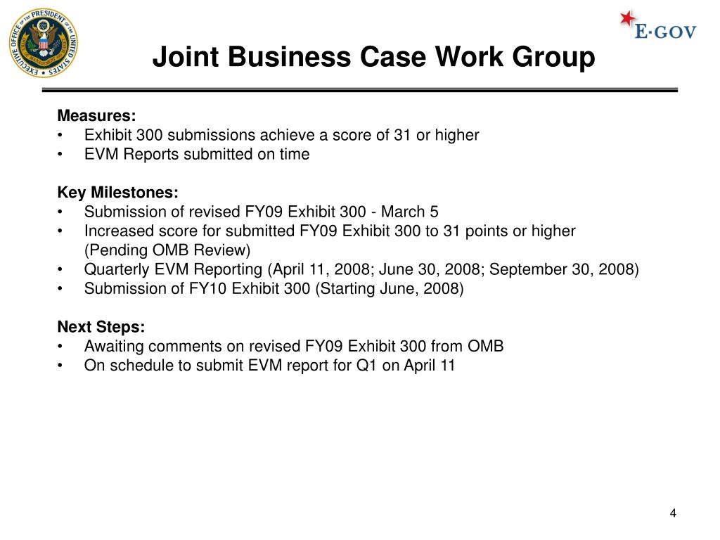Joint Business Case Work Group