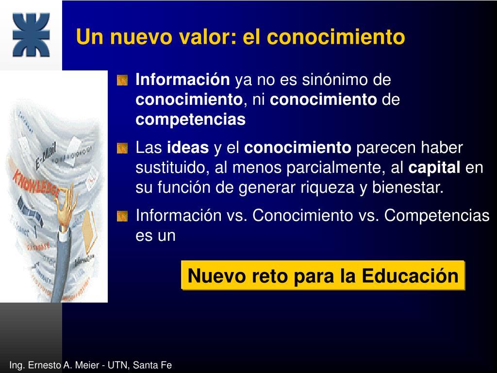 Un nuevo valor: el conocimiento