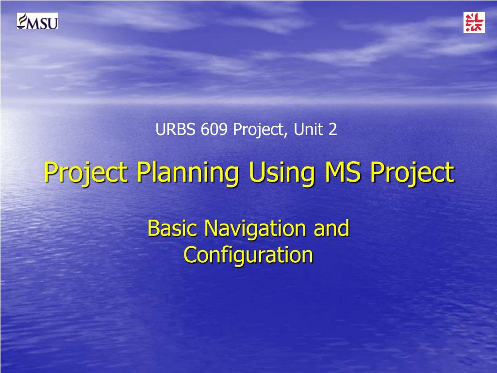 project planning using ms project l.