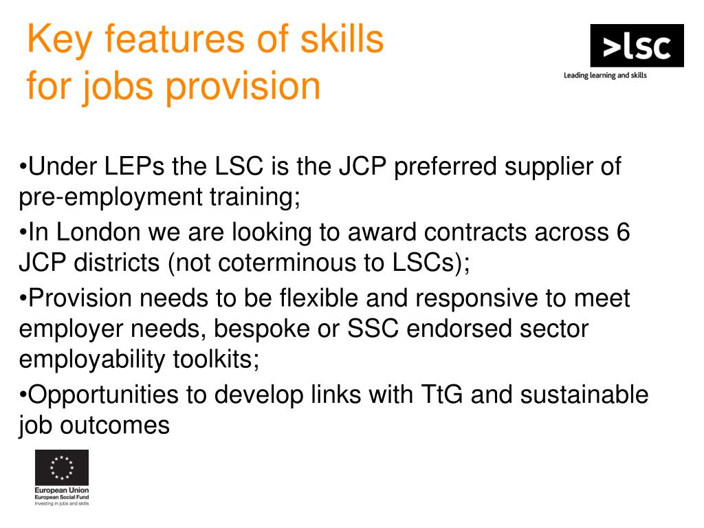 Key features of skills