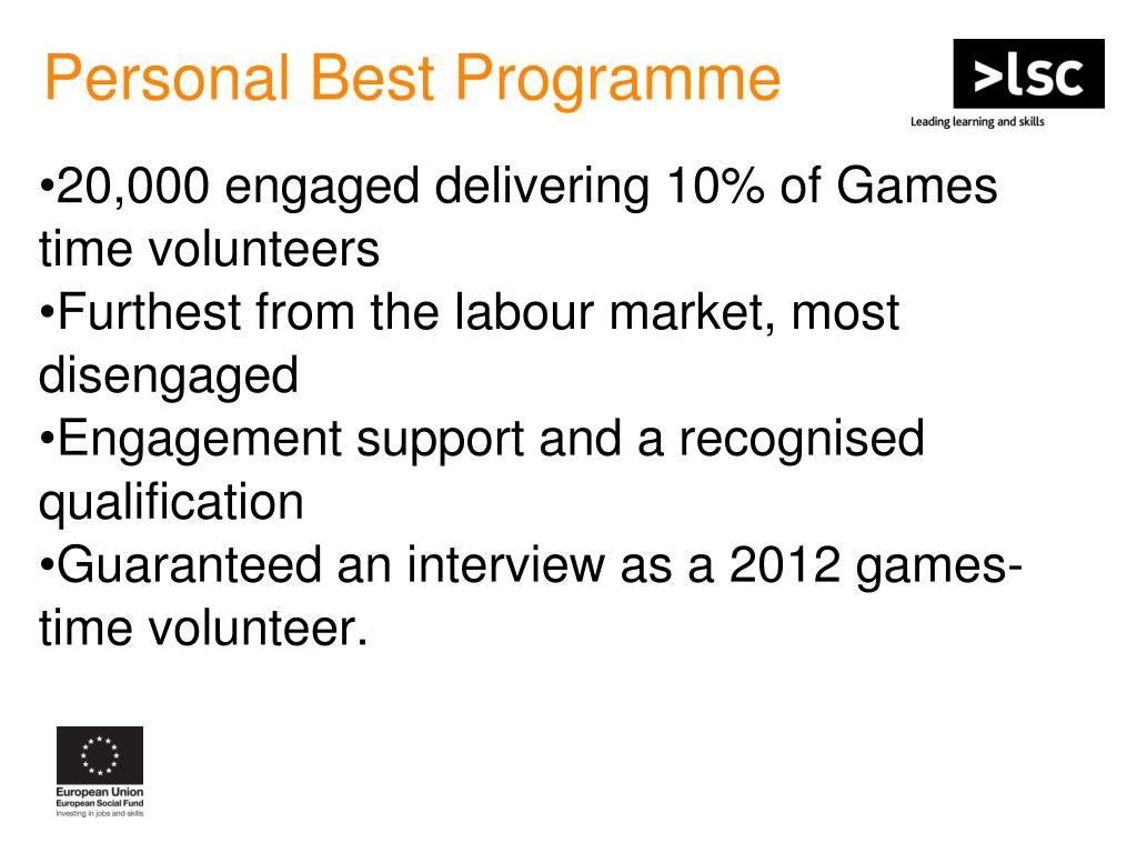 Personal Best Programme