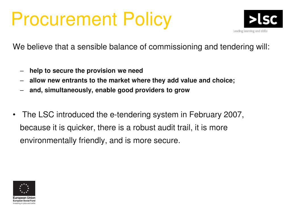 Procurement Policy