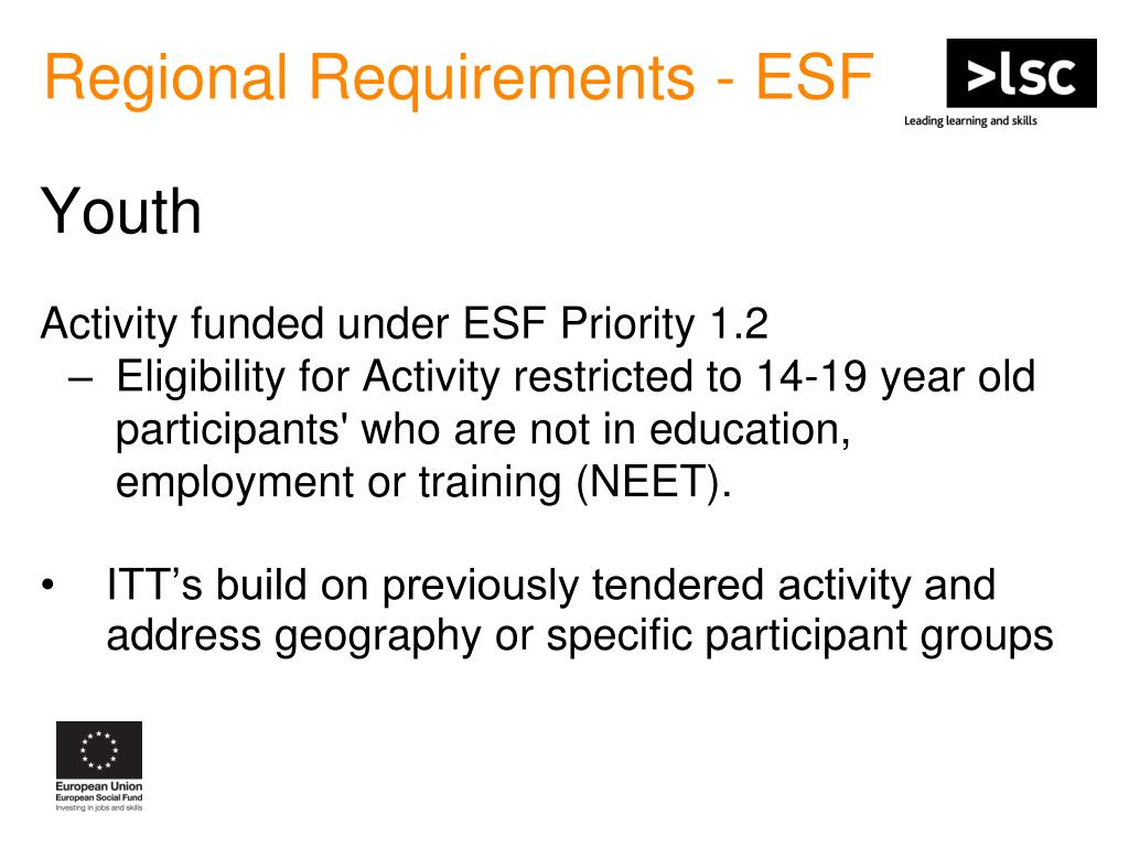 Regional Requirements - ESF