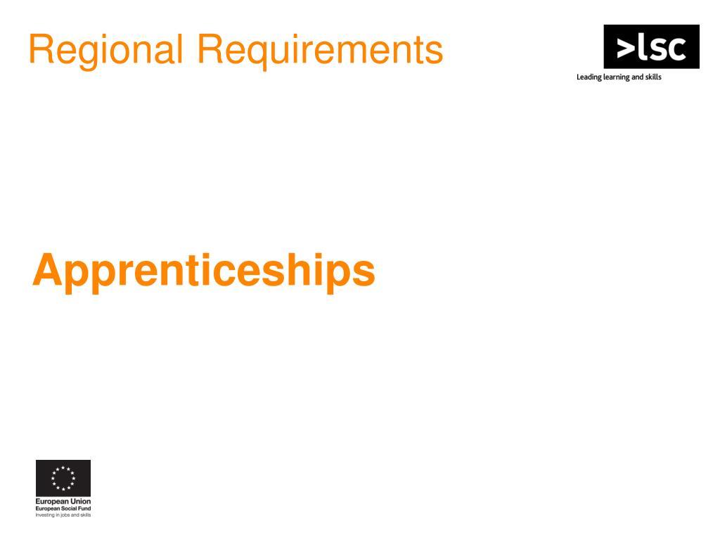 Regional Requirements