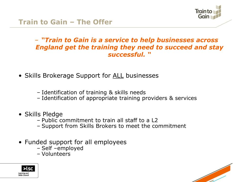 Train to Gain – The Offer