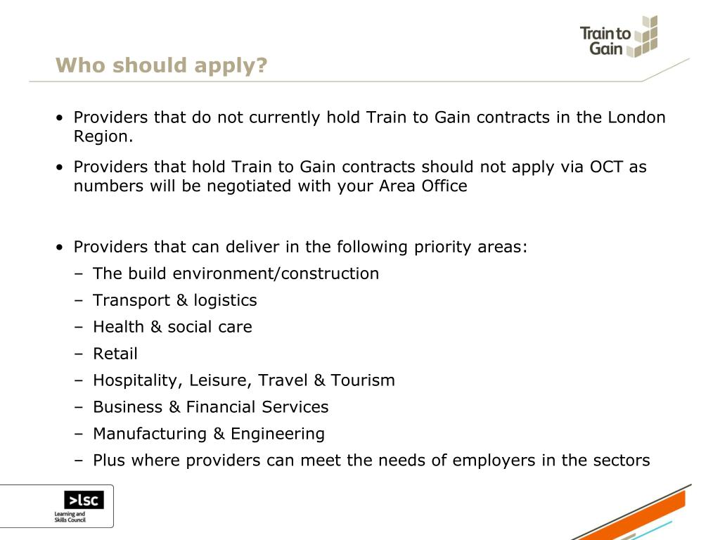 Who should apply?